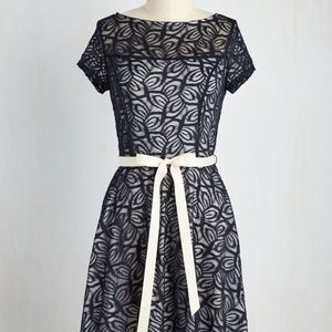 Modcloth Navy/White Lace Dress
